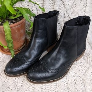 Dune of London Quentin Black Leather Boot 39